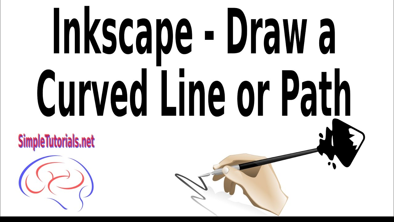Drawing Lines With Inkscape : Inkscape draw curved line or path youtube