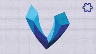 Illustrator Tutorial / Simple Custom LowPoly Letter Logo Design in Illustrator / 3D Polygon Logo