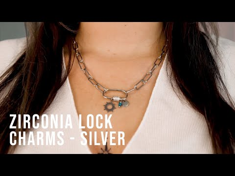 Creating must-have jewellery with zirconia lock charms - Silver
