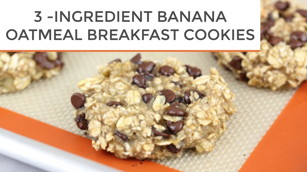 3 INGREDIENT BANANA OATMEAL BREAKFAST COOKIES