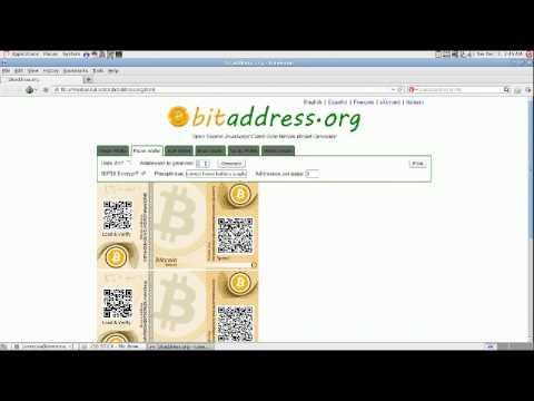 Bitcoin Cold Storage Wallet Creation Tutorial