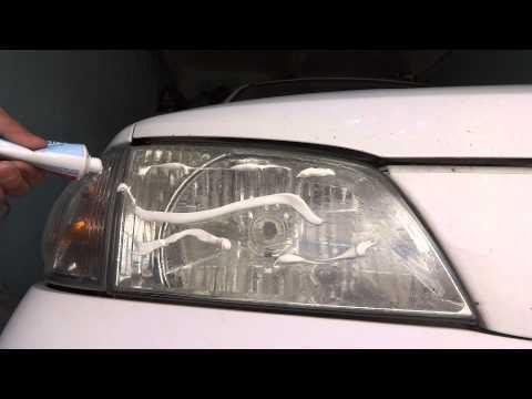 Полировка фар зубной пастой на Mazda Demio (Ford Festiva Mini Wagon)