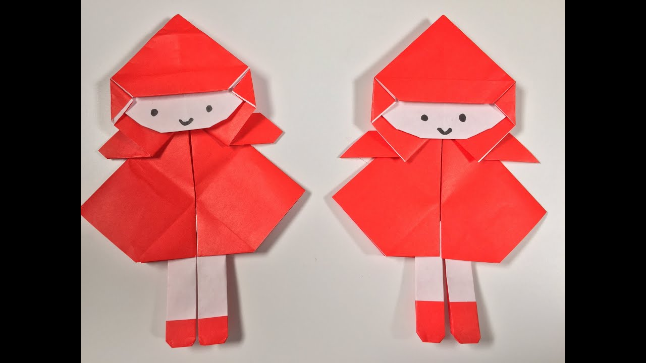 how to doll origami little red riding hood youtube