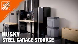 husky steel garage cabinet set garage storage ideas