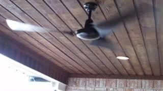 Hampton Bay 60 in. Black Industrial Ceiling Fan