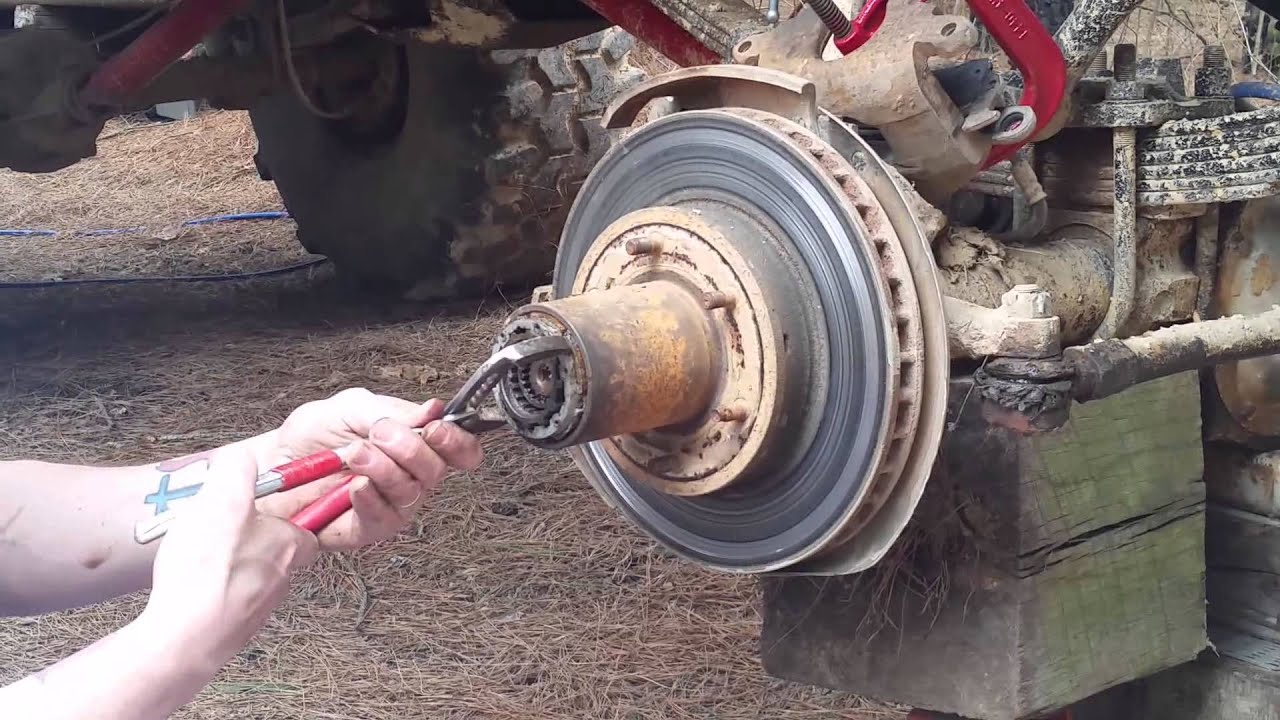 1983 Chevy K10 Hub And Rotor Rebuild Youtube