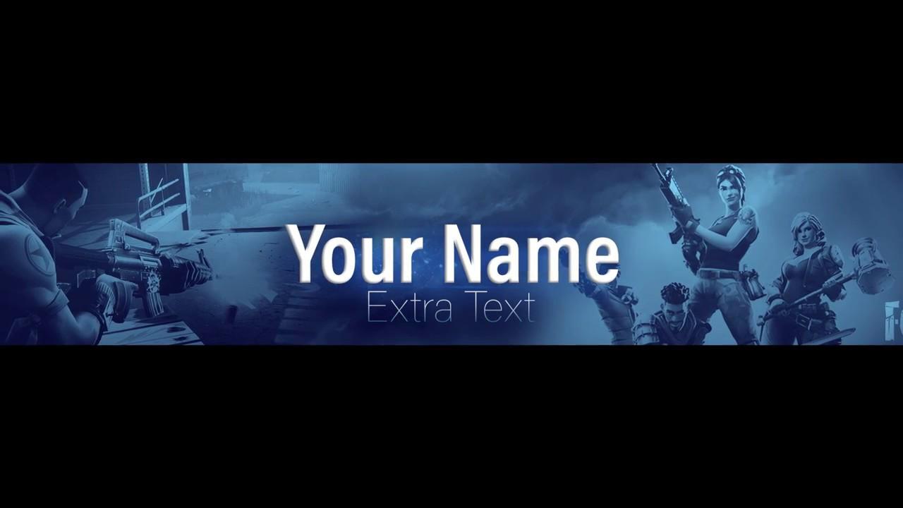 Fortnite Template Banner Speedart Youtube