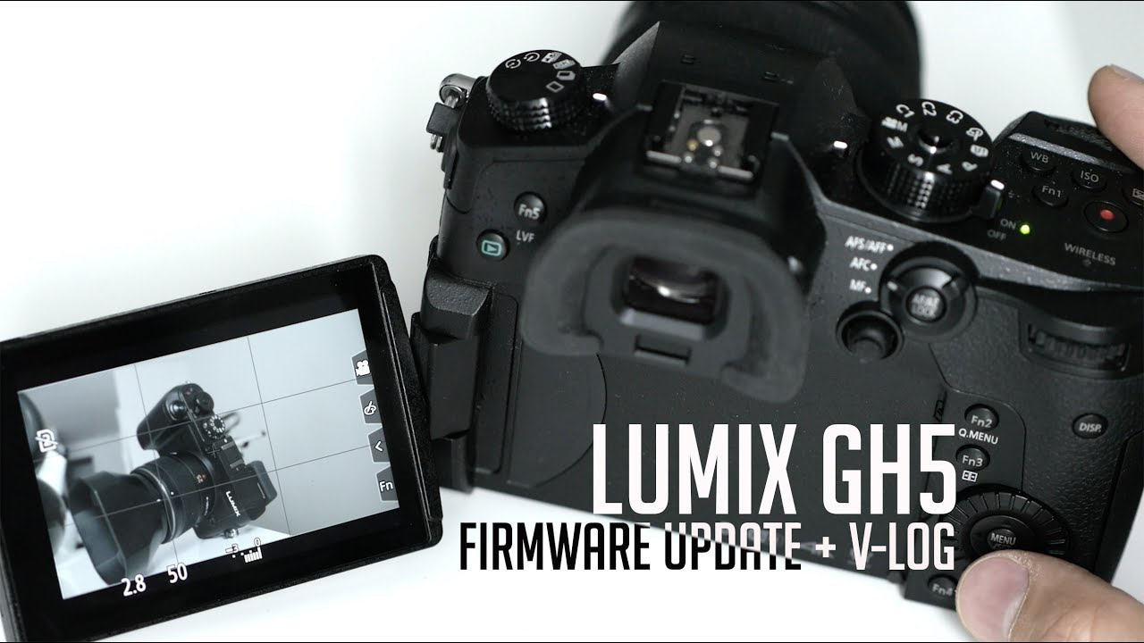 firmware update gh5 how to install
