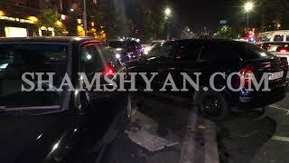 Խոշոր ու շղթայական ավտովթար Երևանում  բախվել են 2 Opel ները, Daewoo ն, Mercedes ը և Toyota ն
