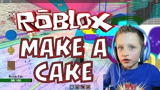 Roblox: I TURN INTO A CAKE AND FEED THE GIANT NOOB (fr) JEU D'ENFANT