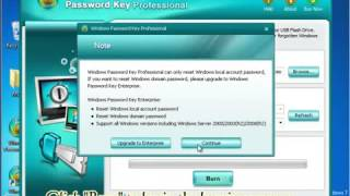 How to use Windows Password Key to Recover Password for Windows 8, Window 7 and Windows XP