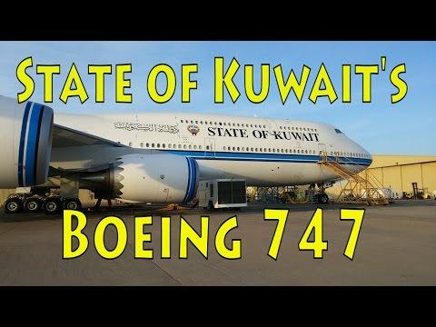 State of Kuwait 747 Landing Love Field