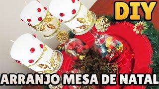 Arranjo de Mesa para o Natal – Centro de Mesa para Decoração Natalina