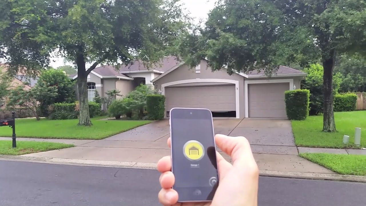 Diy Bluetooth 4 0 Iphone And Android Garage Door Opener Universal Remote Youtube