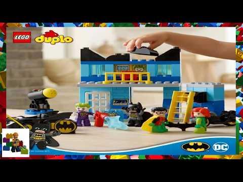Lego Instructions Duplo Batman 10842 Batcave Challenge Youtube