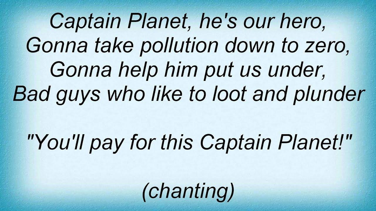 17914 Phil Collins Captain Planet Theme Song Lyrics Youtube