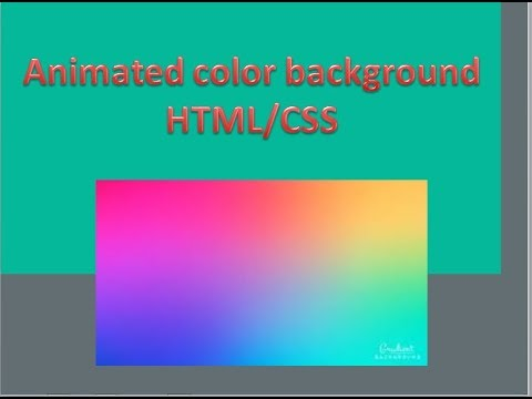 Animated Background | HTML CSS | Code from Scratch thumbnail