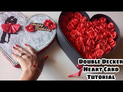 Best Valentines Day Gift|| Heart Shape Double Decker Love Box Tutorial||Heart Love Box Tutorial