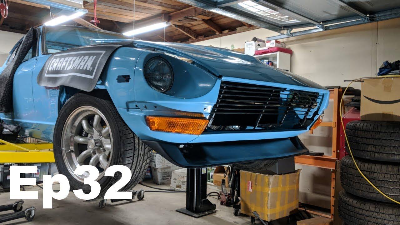 Bre Air Dam Installation Datsun 240z Build Ep 32 Panchos Garage Youtube