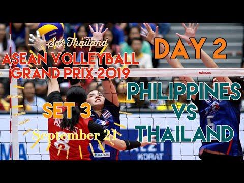 PHILIPPINES vs. THAILAND   SET 3   ASEAN VOLLEYBALL GRAND PRIX 2019   DAY 2