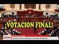 FRACASO LA VACANCIA: LECTURA Y VOTACION FINAL PPK