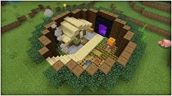Minecraft Tutorial: How To Make A Below Ground Survival Base With a Hidden Room!(Easy Tutorial)