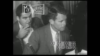 1957  Robert F Kennedy Interrogates Jimmy Hoffa