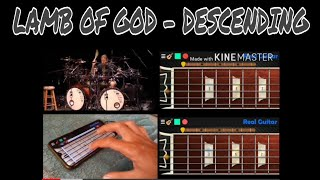 Lamb of God - Descending (real guitar, real bass)