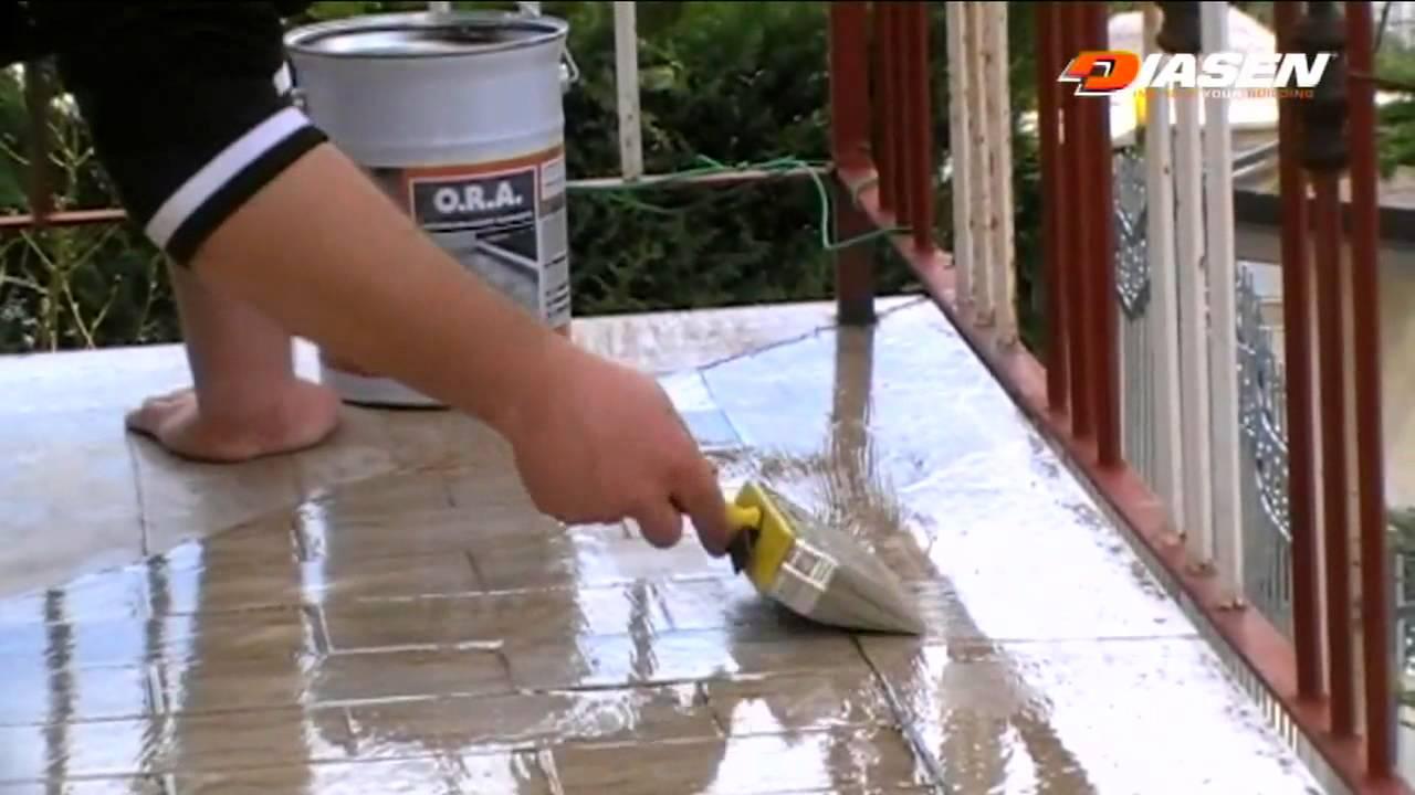 O r a anti lluvia by diasen impermeabilizante for Pintar suelo ceramico