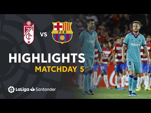 Highlights Granada CF vs FC Barcelona (2-0)