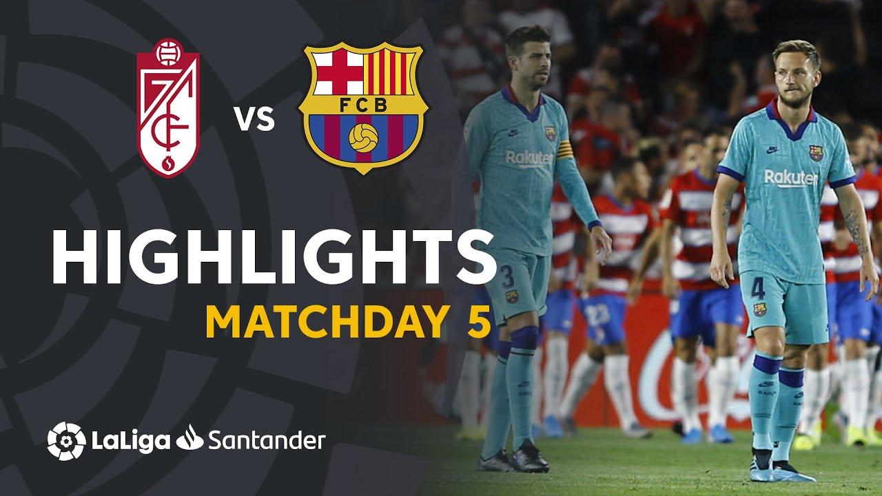 Highlights Granada Cf Vs Fc Barcelona 2 0 Youtube