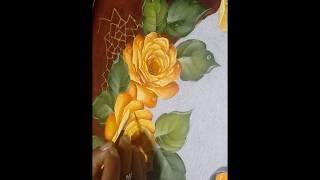 Pintando rosas amarelas – Parte 2