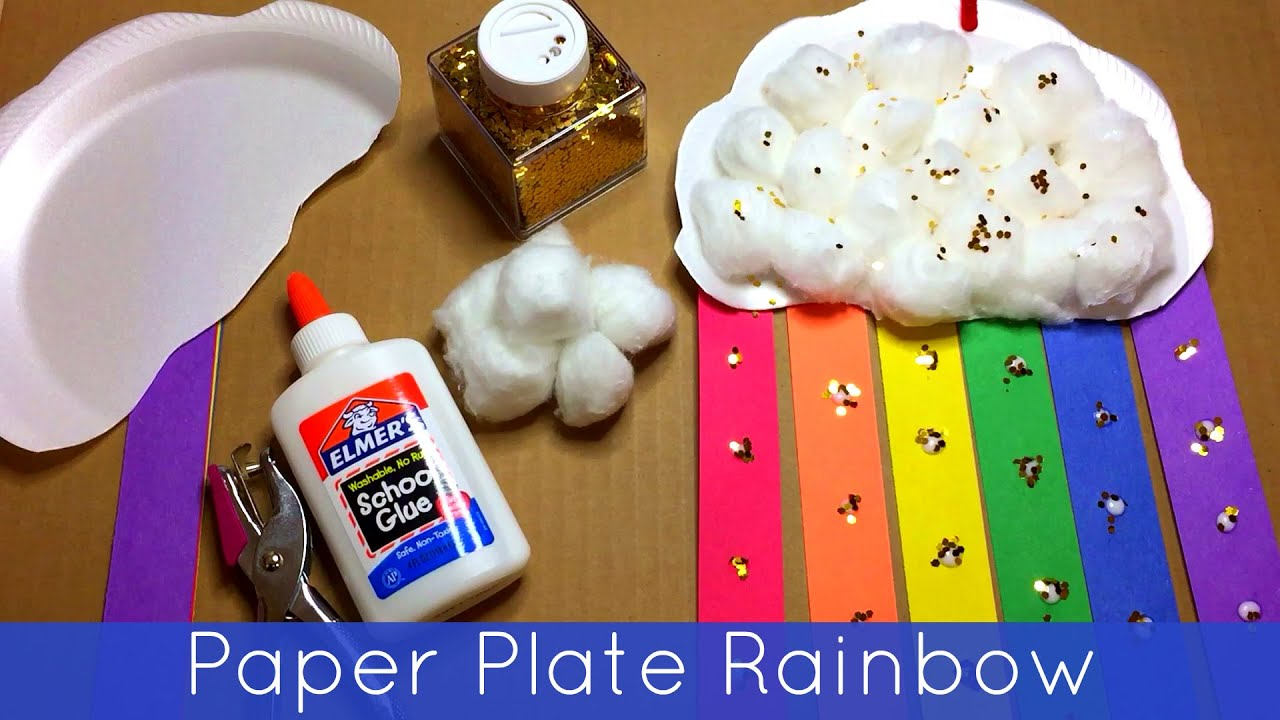 sc 1 st  YouTube & Paper Plate Rainbow Preschool and Kindergarten Craft Project - YouTube