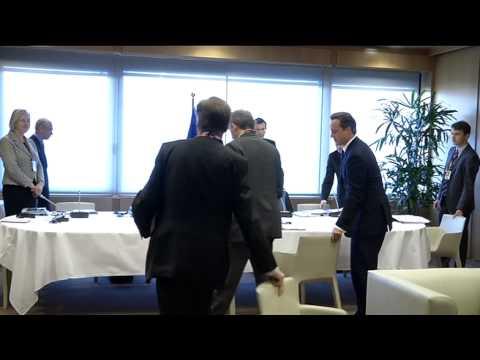Bilateral meeting of VAN ROMPUY,  BARROSO and CAMERON