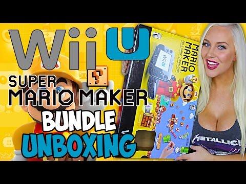 WiiU 32GB Super Mario Maker Bundle Unboxing