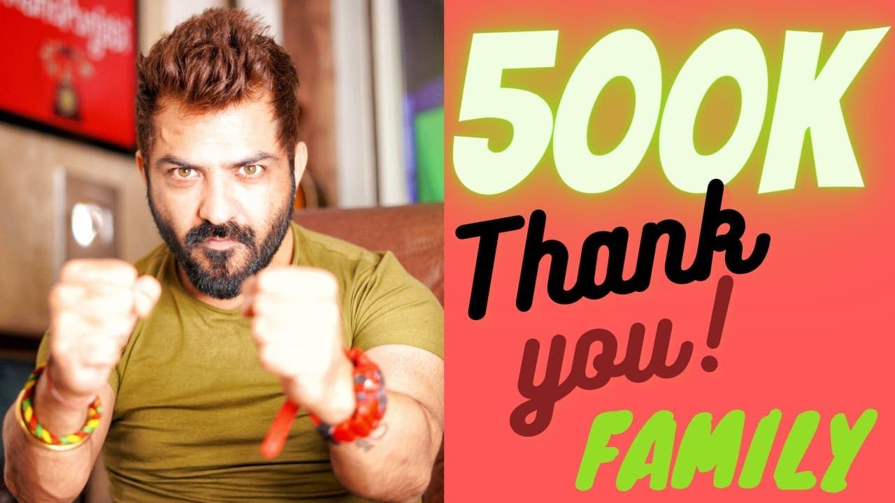 #Biggboss14 BYE BYE 500K SUBSCRIBERS FAMILY💞 THANKS TO ALL OF YOU..🙏 #manupunjabi