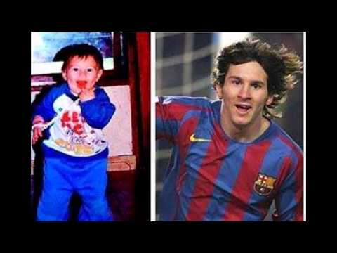 The most beautiful pictures of Messi and Rolando are young