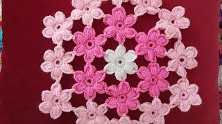 Puf Çiçekli Lif, Supla/Puff Stitch Flower