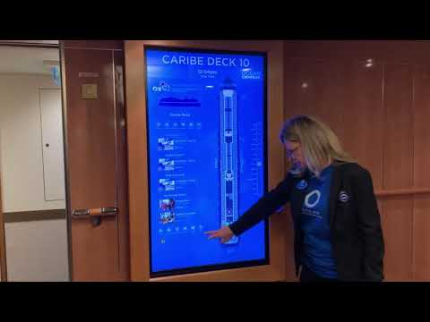 Carnival's Portal interactive screens