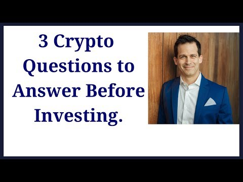 Cryptocurrency investment questions to answer before investing