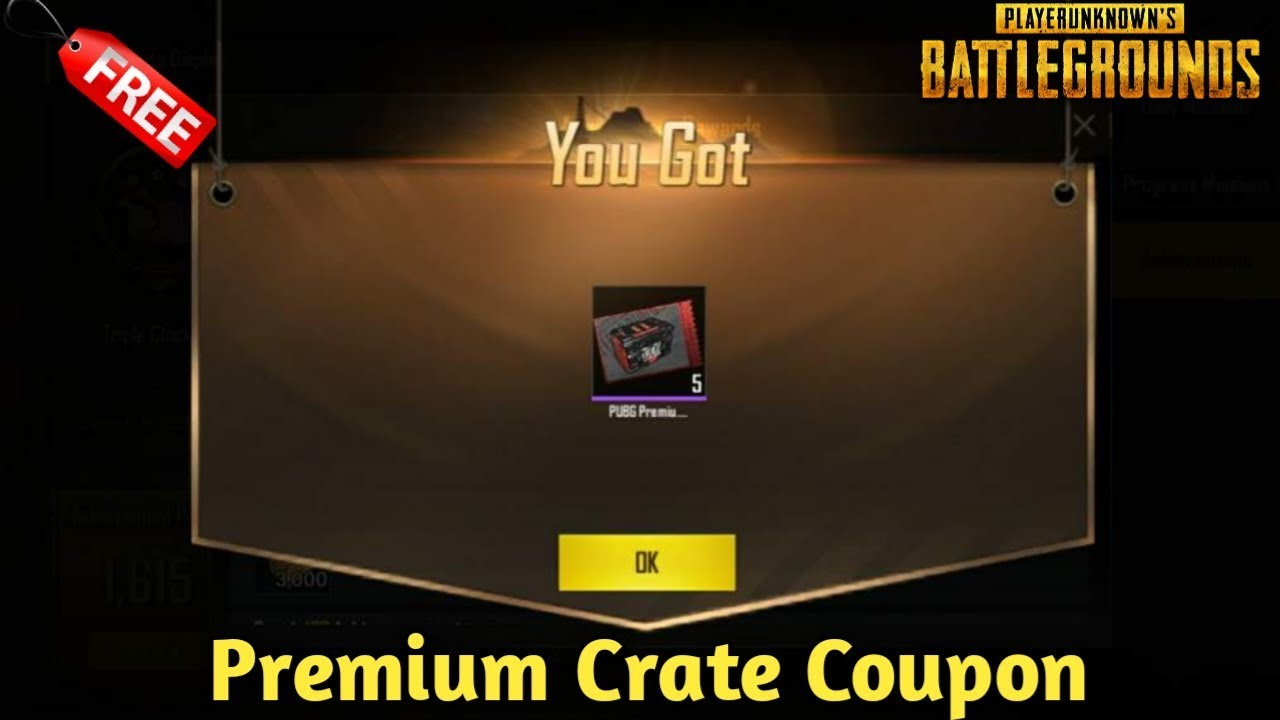 How to Get Free Premium Crate Coupon Pubg Mobile 100% Working Trick !