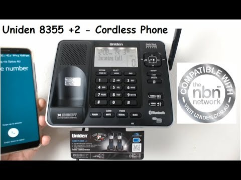 Uniden 8355+2 - XDECT Digital Cordless Phone With Bluetooth - NBN Ready TTS Technology