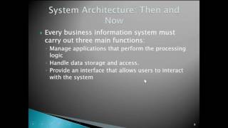 Chapter 10   System Architecture Part 1