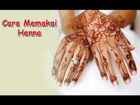 Cara Memakai Henna Dengan Stiker Cetakan Tangan Youtube