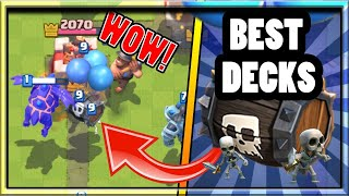 Top 3 Best Skeleton Barrel Decks In Clash Royale Tips And Strategy To Get To Legendary Arena
