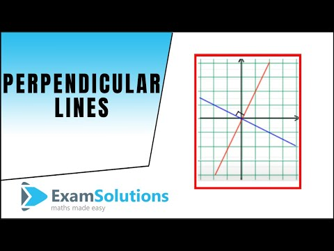 Perpendicular lines : ExamSolutions