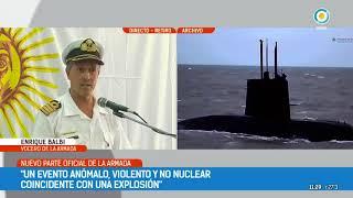 Video La Armada confirma que el submarino sufrió una explosión download MP3, 3GP, MP4, WEBM, AVI, FLV November 2017