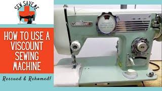SOLD Viscount Japanese ZigZag Vintage Sewing Machine