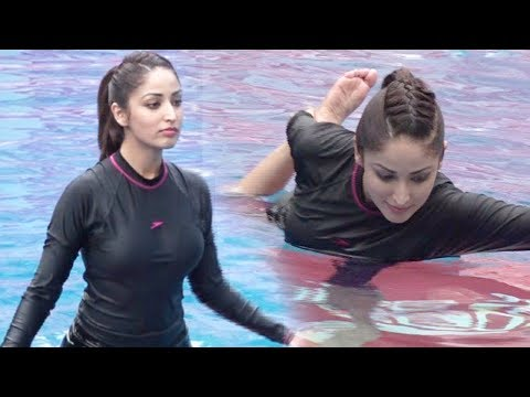 Yami Gautam HOT Workout In Swimming Pool