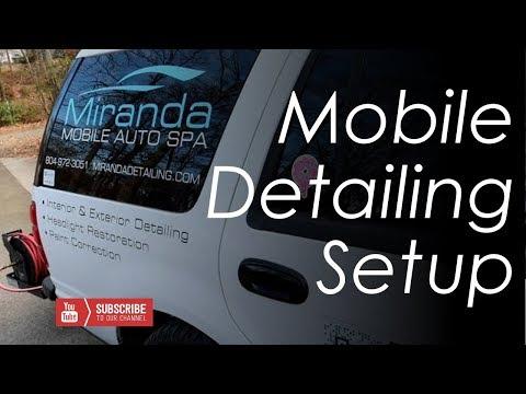 Miranda Mobile Auto Spa -- Detailing Setup